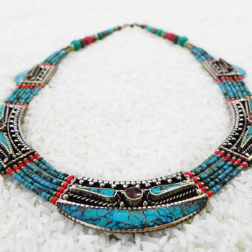 HIMALAYAN JOURNEY NECKLACE Tibetan Buddhist artifact collectable bohemian  folk jewelry