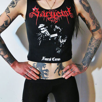 Sargeist Funeral Curses Rubber Tank Top
