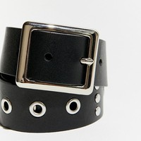 Grommet + Stud Leather Belt | Urban Outfitters