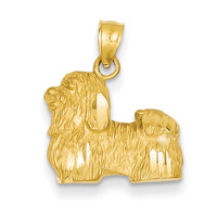14K Diamond-cut Shih Tzu Pendant K3433