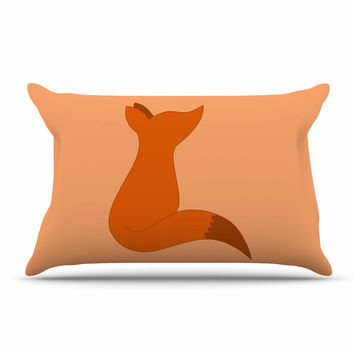 "NL Designs ""Fox"" Brown Orange Digital Pillow Sham"