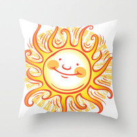 Shine On Throw Pillow by Laurie A. Conley | Society6