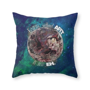 Society6 Earth Without A Throw Pillow