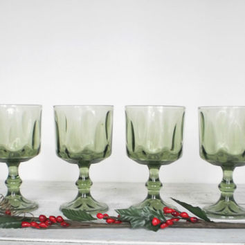 Cyber Monday Stemmed Glasses Holiday Green by RhettDidntGiveADamn