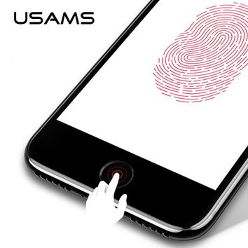 USAMS for iPhone 8 Aluminum Touch ID Home Button Sticker for iPhone SE/5S/6/6S/7/8 iPad Fingerprint Touch key Protect Stickers
