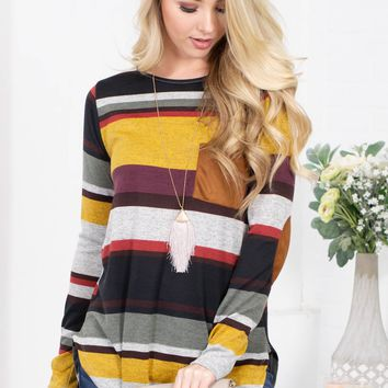 Sunvalley Striped Pocket Top