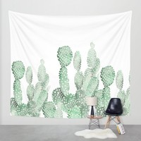 Cactus Wall Tapestry by LedenDesign | Society6