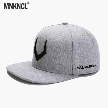Trendy Winter Jacket MNKNCL 2018 New High Quality Snapback Caps 3D Pierced Embroidery Hat Hip Hop Cap Flat Bill Baseball Cap For Men and Women AT_92_12