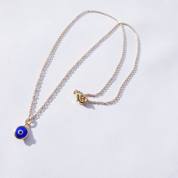 Glass Evil Eye Beaded Necklace