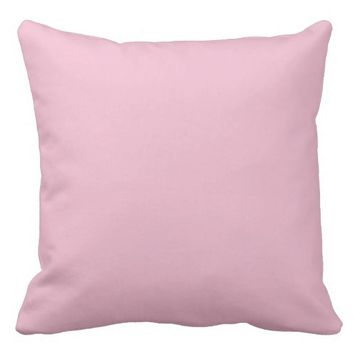 Soft Pink Pale Blush Throw Pillow