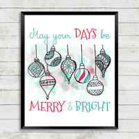 Christmas Ornaments Printable, Christmas Printable