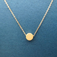 Karma, Dot, Necklace, Gold, Circle, Necklace, Minimal, Tiny, Small, Pendant, Necklace, Jewelry, Gift, For, Her