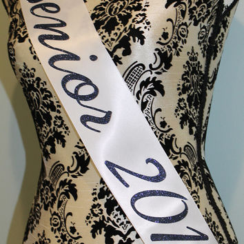 graduation sash, high school senior sash, prom sash, valedictorian sash