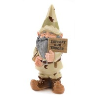 Gifts & Decor Support Our Troops Gnome Patriotic USA Garden Outdoor Statue (Discontinued by Manufacturer)