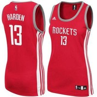 Women's Houston Rockets James Harden adidas Red Replica Jersey