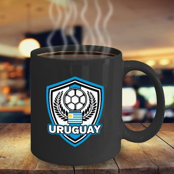 Uruguay Soccer Coffee Mug 11oz Black Ceramic Cup, Soccer Gift, Uruguay Flag, Soccer Gift Idea, Gift for Soccer Player