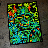 """Goblin Fighter"" Screen Print – The Art of Skinner"