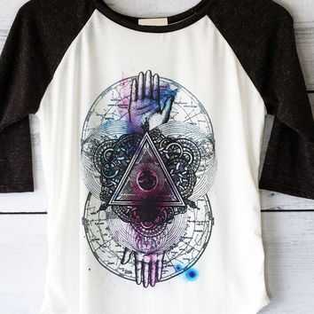 Eye of Providence Sublimation Shirt - Women's Baseball Tee