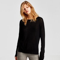 SWEATER WITH SIDE SLITS DETAILS