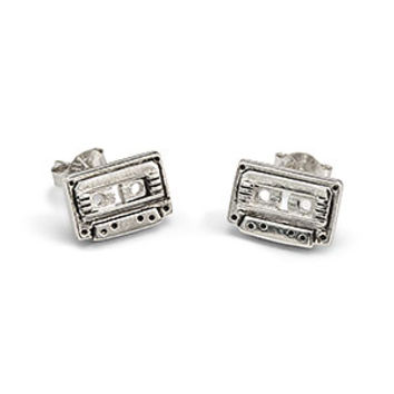 GotG Wee Awesome Mix Vol. 2 Cassette Sterling Stud Earrings