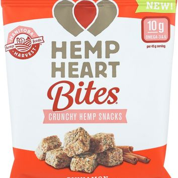 Manitoba Harvest Hemp Heart Bites - Cinnamon - 1.6 Oz - Case Of 12