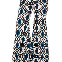 Mix Print High Waisted Wide Leg Palazzo Pants