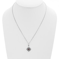 Dharmachakra Sterling Silver Garnet Love Necklace