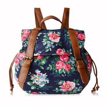 Floral printed hot sale female travel bag