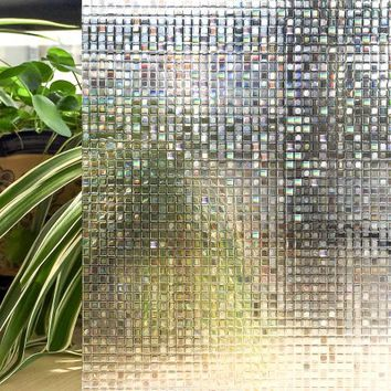 Window Film 3D Static Privacy Decoration Self Adhesive For UV Blocking Heat Control Privacy Glass Stickers,11.8x78.7 Inches - Walmart.com