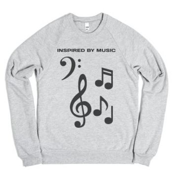 Inspired By Music - American Apparel Unisex Crew Neck Sweatshirt / ...