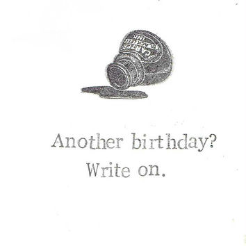 Another Birthday Write On Writer Birthday Card | Funny Birthday Card Poetry English Teacher Literature Humor Pun For Him For Her