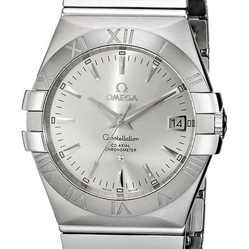 Omega Constellation Co-Axial Stainless Steel Automatic Mens Watch Silver Dial Date 123.10.35.20.02.001