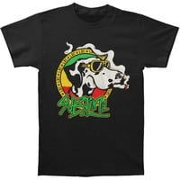 Sublime Men's  Cartoon Dog With Joint Slim Fit T-shirt Black Rockabilia
