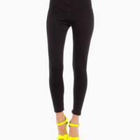 High Waist Stretch Pants in Black