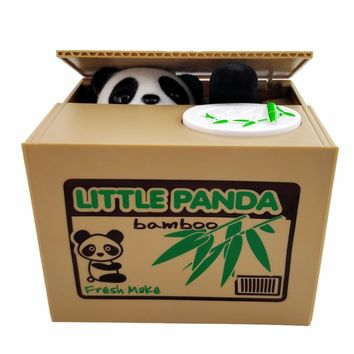 Panda Cat Thief Money boxes toy piggy banks gift kids money boxes Automatic Stole Coin Piggy Bank Money Saving Box Moneybox