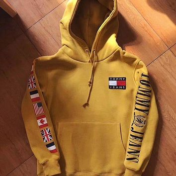 """ Tommy Hilfiger "" Fashion Casual Women Men Hot Hoodie Cute Sweater G"