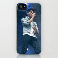 Zayn Malik One Direction Singing iPhone Case by Karl Wilson Photography