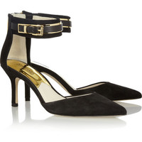MICHAEL Michael Kors | Karlie suede and leather pumps | NET-A-PORTER.COM
