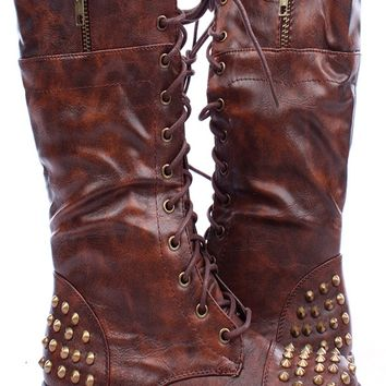 Best Faux Leather Lace Up Boots Products on Wanelo