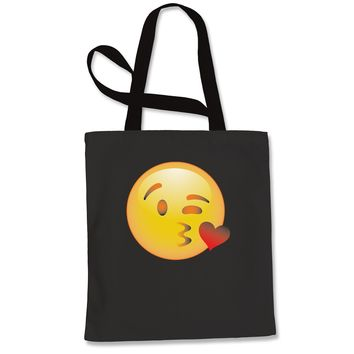 Color Emoticon - Blowing Kisses Smiley Shopping Tote Bag