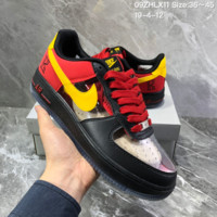 HCXX N1406 Nike Air Force 1 Low CMFT Signature Fashion Skate Shoes Black Red Yellow