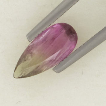 Watermelon Tourmaline: 2.16ct Pink Green Pear Shape Gemstone, Imagine Design Create, Birth Stone Baby, Bridal Wedding Marriage, Silver 20927