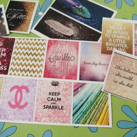 16 Glitter Squares, perfect for your Erin Condren Life Planner!