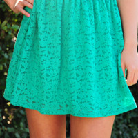 EVERLY: Won't Forget Me Skirt: Jade Green