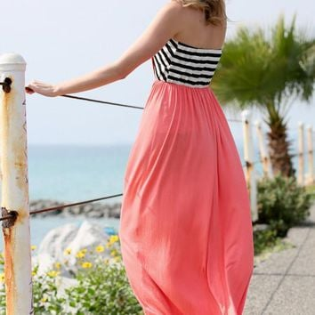 Best For Last Striped Maxi Dress