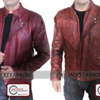 Guardians of the Galaxy 2 Chris Pratt Star Lord Leather Jacket - Waxed Formation