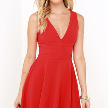 Sublime Time Red Skater Dress