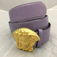 100% Genuine Pure and Gold Medusa Head Gianni Versace belt
