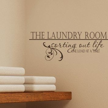 Laundry Room Wall Decal Sorting Out Life by singlestonestudios