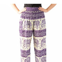 peacock pants hippie clothes Bangkok pants elastic waist bohemian pants /Yoga pants/elephant thai pants/Harem pants/boho pants/gypsy pants